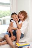 Gelukkige moeder en dochter Royalty-vrije Stock Afbeelding