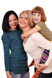 Gelukkige moeder en dochters Stock Foto's