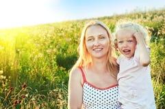 Gelukkige moeder en dougther Stock Foto's