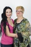 Gelukkige moeder en volwassen dochter Stock Foto's