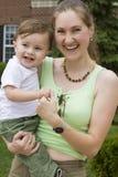 Gelukkige moeder en zoon Royalty-vrije Stock Fotografie