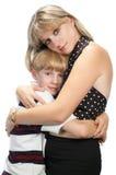 Gelukkige moeder en zoon stock fotografie