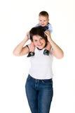 Gelukkige moeder haar baby stock foto's