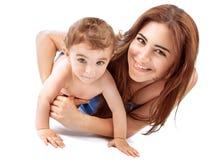 Gelukkige moeder met baby Stock Fotografie