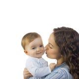 Gelukkige moeder met baby stock afbeelding