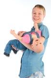 Gelukkige moeder met dochter Stock Afbeeldingen