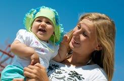 Gelukkige moeder met kind Royalty-vrije Stock Foto's