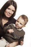 Gelukkige moeder met kind Stock Foto's