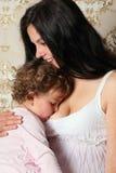 Gelukkige moeder met kind Royalty-vrije Stock Afbeeldingen