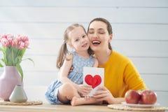 Gelukkige moeder`s dag stock fotografie