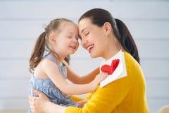 Gelukkige moeder`s dag stock foto's