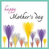 Gelukkige moedersdag met tulp Stock Foto's