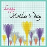 Gelukkige moedersdag met tulp en puntpatroon Royalty-vrije Stock Foto