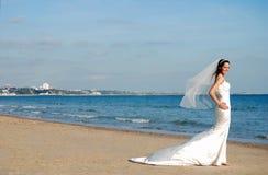 Gelukkige mooie bruid Royalty-vrije Stock Afbeeldingen
