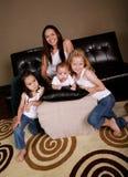 Gelukkige Multiraciale Familie Stock Foto