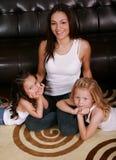 Gelukkige Multiraciale Familie stock foto's