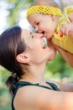 Gelukkige mum en dochter Royalty-vrije Stock Foto