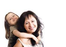 Gelukkige mun en dochter Stock Afbeelding