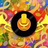 Gelukkige muziekachtergrond vector illustratie