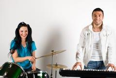 Gelukkige muzikale band Royalty-vrije Stock Foto's