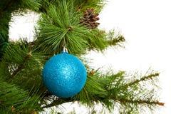 Gelukkige newyear van kerstboomdecoratie Royalty-vrije Stock Foto