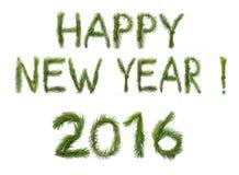 Gelukkige nieuw, 2016, jaar! Stock Fotografie
