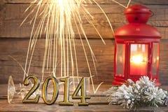 gelukkige nieuwe het jaar abstracte achtergrond van 2014 Stock Afbeelding
