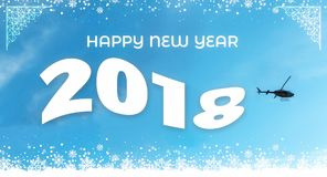 gelukkige nieuwe het jaarvlag van 2018 Stock Afbeeldingen
