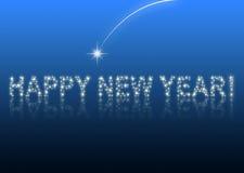 Gelukkige nieuwe jaar 2010 blauwe ster Stock Afbeeldingen