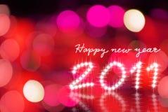 Gelukkige nieuwe jaar 2011 achtergrond Stock Foto
