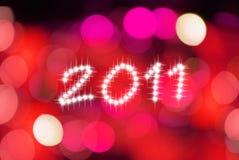 Gelukkige nieuwe jaar 2011 backgroud Stock Afbeeldingen