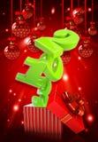 Gelukkige nieuwe jaar 2013 3d achtergrond Royalty-vrije Stock Foto's