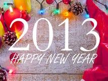 Gelukkige nieuwe jaar 2013 achtergrond Stock Fotografie