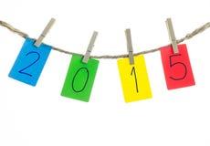 Gelukkige nieuwe jaar 2015 achtergrond Stock Fotografie