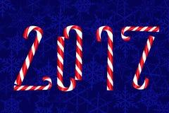 Gelukkige nieuwe jaar donkerblauwe kaart Royalty-vrije Stock Foto's