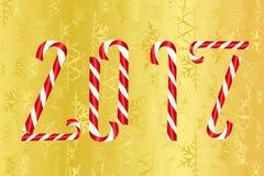 Gelukkige nieuwe jaar gouden kaart Stock Afbeelding