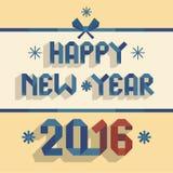 Gelukkige nieuwe jaar 2016 illustratie royalty-vrije illustratie