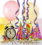 Gelukkige nieuwe jaar kleurrijke partij als achtergrond Royalty-vrije Stock Afbeeldingen