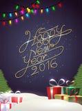 Gelukkige nieuwe jaar moderne achtergrond met element Royalty-vrije Stock Afbeeldingen
