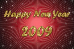 Gelukkige nieuwe jaar rode achtergrond Stock Fotografie