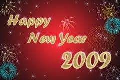 Gelukkige nieuwe jaar rode achtergrond Stock Foto's