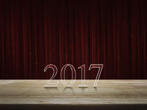 Gelukkige nieuwe jaar 2017 tekst op lijst Royalty-vrije Stock Foto's