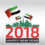 Gelukkige nieuwe jaar verenigde Arabische emiraten de V.A.E Stock Fotografie