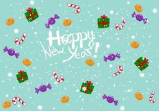 Gelukkige nieuwe jaargelukwens Stock Foto's