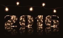 Gelukkige nieuwe jaarillustratie Royalty-vrije Stock Foto's