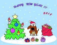 Gelukkige nieuwe jaarkaart Stock Afbeelding