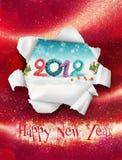 Gelukkige nieuwe jaarkaart Stock Foto's