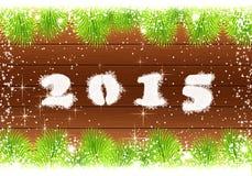 Gelukkige nieuwe jaarkaart 2015 Royalty-vrije Stock Afbeelding