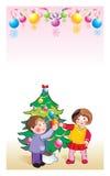 Gelukkige nieuwe jaarkinderen \ 's Royalty-vrije Stock Afbeeldingen