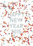 Gelukkige Nieuwe jaarpartij 2015 confettienachtergrond Stock Afbeeldingen